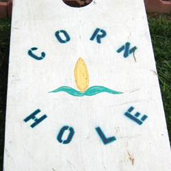 Alabama Cornhole, with locally-made boards for the traditional game.